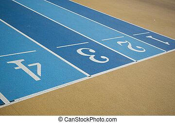 Numbers on running Field - Numbers at finish line of 60...