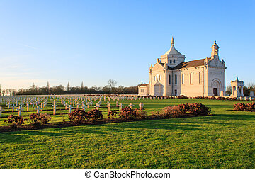 French national cemetery Notre-Dame-de-Lorette -...