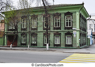 Architectural and historical monument to Tyumen, House of...