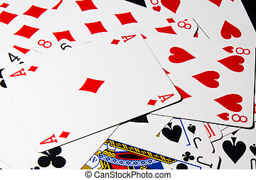 Poker card - Background of group poker cards in casino