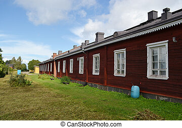 Old wooden building in Lappeenranta, Finland - Old wooden...
