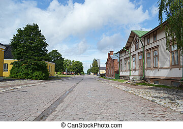 Street in Lappeenranta, Finland - Street on the territory of...