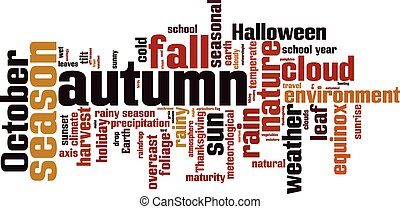 Autumn word cloud concept. Vector illustration