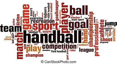 Handball word cloud concept Vector illustration