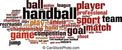 Handball word cloud concept. Vector illustration