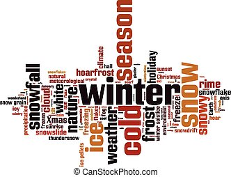Winter word cloud concept Vector illustration