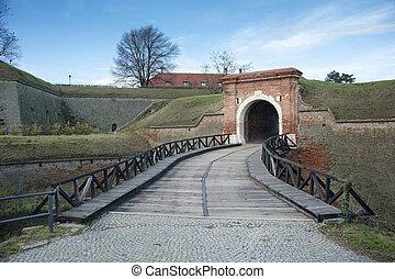Petrovaradin fortress, Novi Sad, Serbia - Old brick wall...