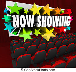 Now Showing Words Movie Screen Attend Viewing Event Webinar...