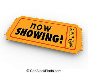 Now Showing Words Movie Ticket Pass Watch Video Online...