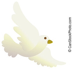 Pigeon - illustration drawing of a pigeon isolate in a white...