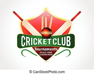 abstract cricket background with shield vector illustration
