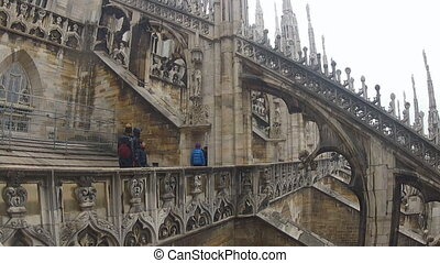 Duomo di Milano. On the roof. - On the roof of the ancient...