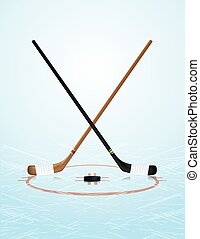 Ice Hockey Illustration - An illustration of ice hockey...