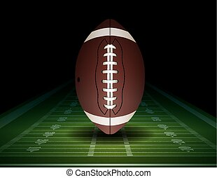 American Football and Field Illustration - An illustration...