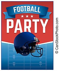 American Football Party Illustration - An American Football...