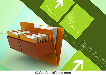 Cabinet with file folder