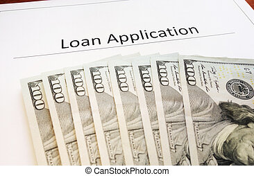 Loan app - Loan Application form and assorted cash...