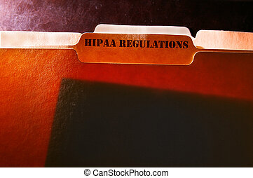 HIPAA file folders - tabbed file folders with HIPAA...