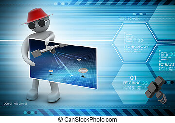 3d man with card