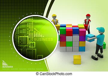 3d people in teamwork