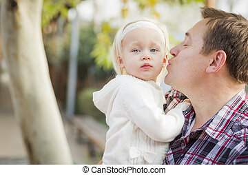 Adorable Little Girl with Her Daddy Portrait