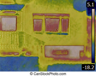 Heat Loss Detection - Thermal Image of a Heat Loss from...
