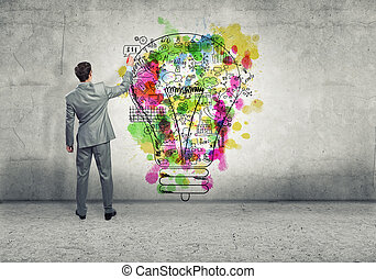 Criativo, pensando,