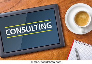 Tablet on a desk - Consulting