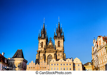 The Church of Mother of God in front of Tyn - The gothic...