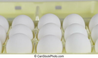 Picking an Egg Carton - Garthering eggs from carton in bowl...