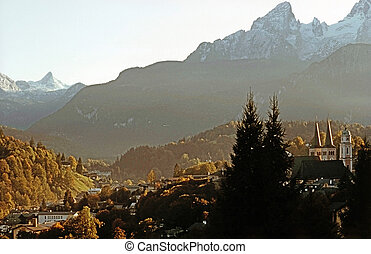 Berchtesgaden, Germany - Berchtesgaden with Alps in Germany