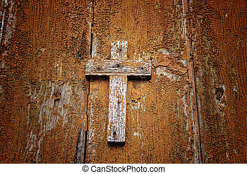 wooden Catholic cross - A brownish wooden Catholic cross...