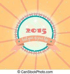Card - New Year 2015, grunge
