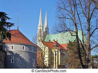 Goerlitz Ochsenbastei and Peterschurch