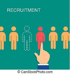 vector recruitment and human resource infographics template...