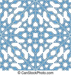 Intricate moorish eastern pattern. Seamless vector...