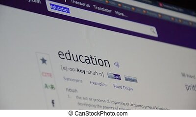 Online education. Website of educat