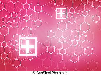 Modern medicine - Conceptual background digital image with...