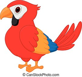 Happy macaw bird cartoon