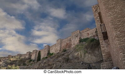 Alcazaba castle-- Malaga,Spain - Alcazaba castle on...