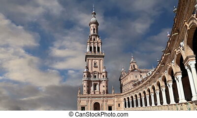 Plaza de Espana, Spain - Famous Plaza de Espana was the...