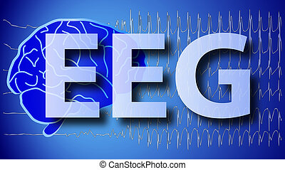 brain wallpaper illustration EEG - a medical brain wallpaper...