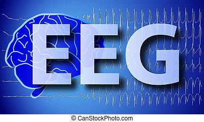 brain wallpaper illustration EEG - a medical brain wallpaper...