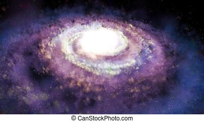 Rotating spiral galaxy - deep space