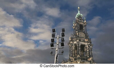 Hofkirche in Dresden, Germany - Hofkirche or Cathedral of...