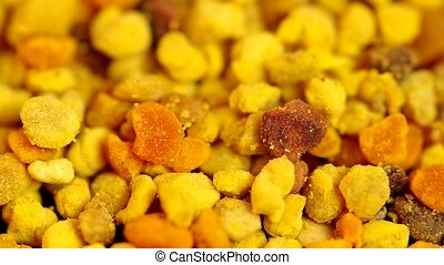 Yellow bee pollen - Detail of dried bee pollen