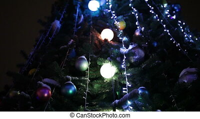 Illumination on Christmas tree