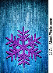 christmas toys simbol flake on blue background
