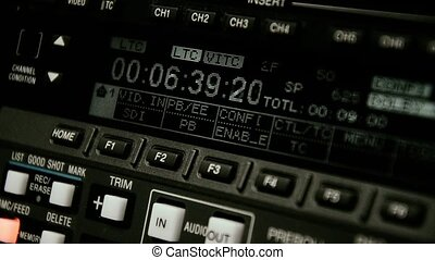 Professional video recorder Format Betacam Timecode rewind...