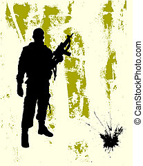 soldier - vector illustration of an elegant floral...